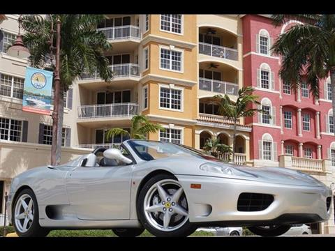2001 Ferrari 360 Spider for sale in Naples FL