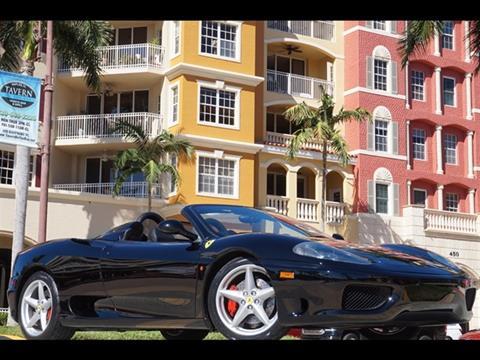 2003 Ferrari 360 Spider for sale in Naples, FL