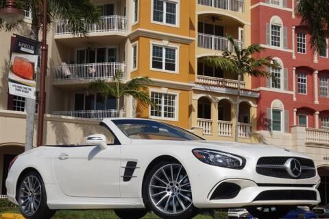 2017 Mercedes-Benz SL-Class SL 550 for sale at BLACK HORSE MOTORS in Naples FL