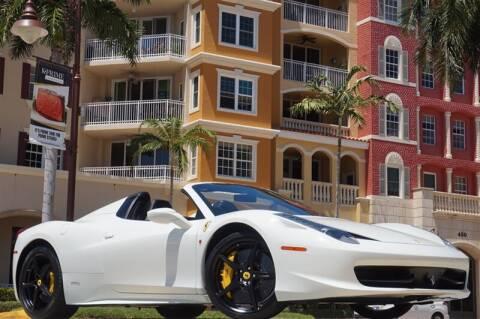 2014 Ferrari 458 Spider for sale at BLACK HORSE MOTORS in Naples FL
