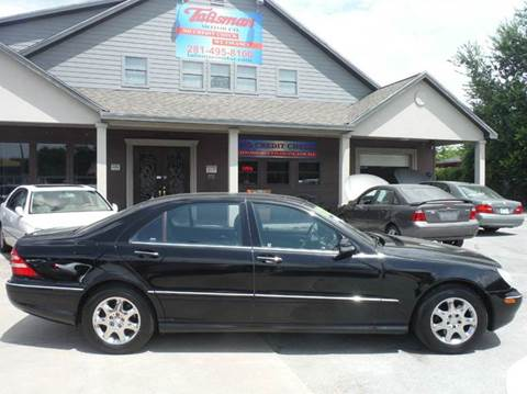 2002 Mercedes-Benz S-Class for sale at Talisman Motor Company in Houston TX