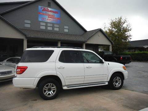 2004 Toyota Sequoia for sale at Talisman Motor Company in Houston TX
