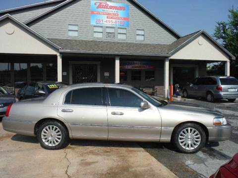 2003 Lincoln Town Car for sale at Talisman Motor Company in Houston TX