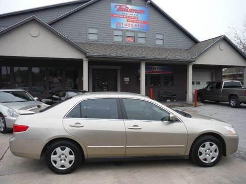 2005 Honda Accord for sale at Talisman Motor Company in Houston TX