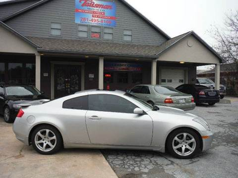 2004 Infiniti G35 for sale at Talisman Motor Company in Houston TX