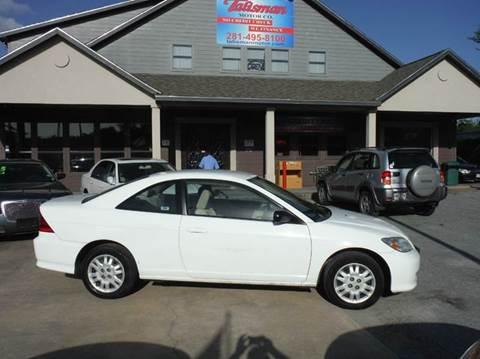 2005 Honda Civic for sale at Talisman Motor Company in Houston TX