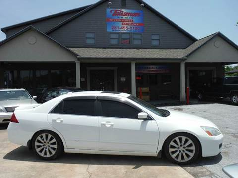 2006 Honda Accord for sale at Talisman Motor Company in Houston TX