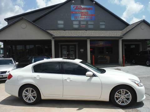 2012 Infiniti G37 Sedan for sale at Talisman Motor Company in Houston TX