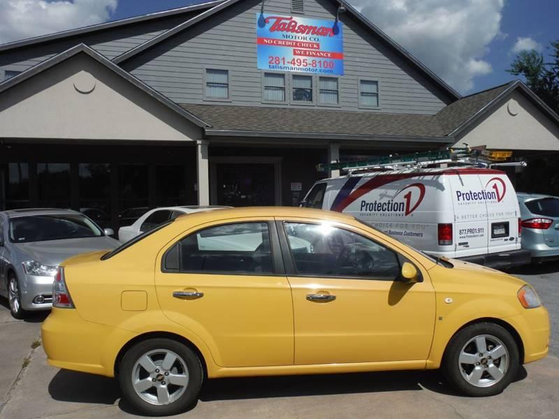 2008 Chevrolet Aveo Lt 4dr Sedan In Houston Tx Talisman Motor Company
