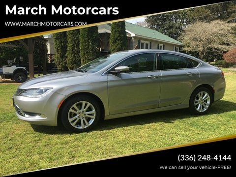 2015 Chrysler 200 for sale in Lexington, NC