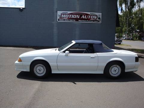 1988 Ford Mustang for sale at Motion Autos in Longview WA