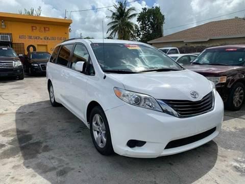2014 Toyota Sienna for sale at America Auto Wholesale Inc in Miami FL