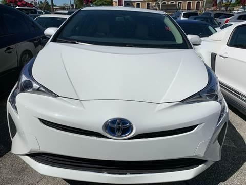 2016 Toyota Prius for sale at America Auto Wholesale Inc in Miami FL