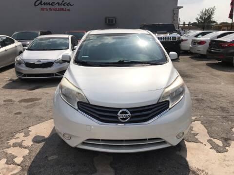 2014 Nissan Versa Note for sale at America Auto Wholesale Inc in Miami FL