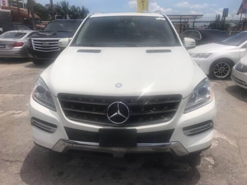2012 Mercedes-Benz M-Class for sale at America Auto Wholesale Inc in Miami FL