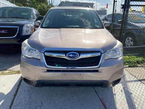 2015 Subaru Forester for sale at America Auto Wholesale Inc in Miami FL