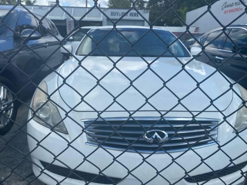 2009 Infiniti G37 Convertible for sale at America Auto Wholesale Inc in Miami FL