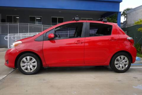 2013 Toyota Yaris for sale at PERFORMANCE AUTO WHOLESALERS in Miami FL