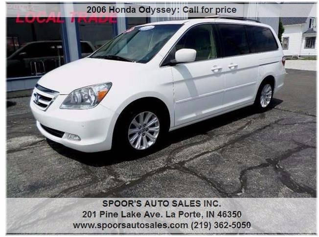 2006 Honda Odyssey for sale at SPOOR'S AUTO SALES INC. in La Porte IN