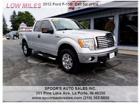2012 Ford F-150 for sale at SPOOR'S AUTO SALES INC. in La Porte IN