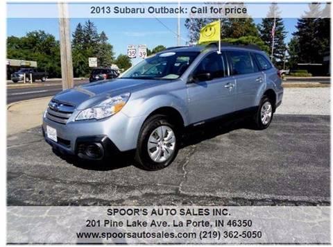 2013 Subaru Outback for sale at SPOOR'S AUTO SALES INC. in La Porte IN