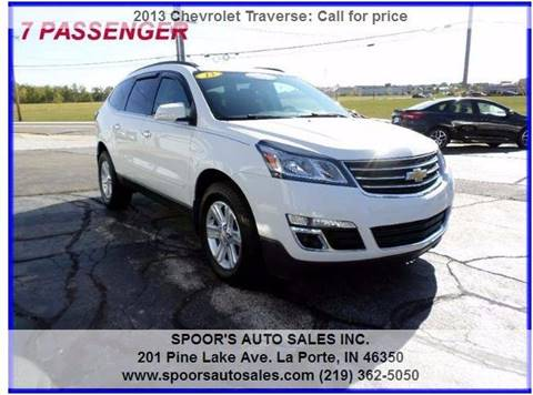 2013 Chevrolet Traverse for sale at SPOOR'S AUTO SALES INC. in La Porte IN