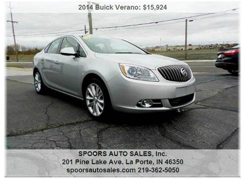 2014 Buick Verano for sale at SPOOR'S AUTO SALES INC. in La Porte IN