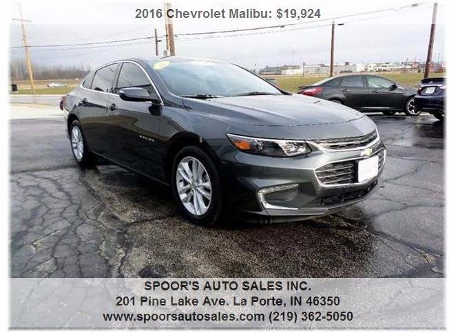 2016 Chevrolet Malibu for sale at SPOOR'S AUTO SALES INC. in La Porte IN