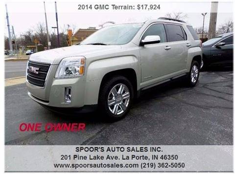 2014 GMC Terrain for sale at SPOOR'S AUTO SALES INC. in La Porte IN