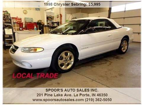 1998 Chrysler Sebring for sale at SPOOR'S AUTO SALES INC. in La Porte IN