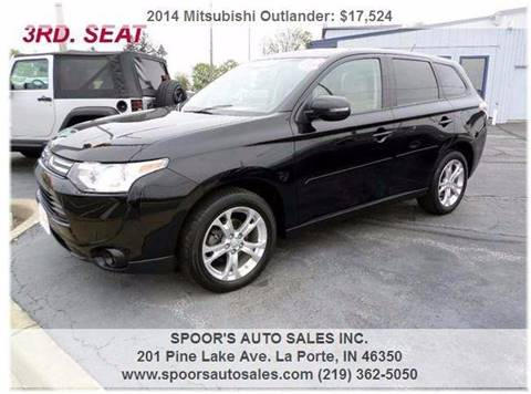 2014 Mitsubishi Outlander for sale at SPOOR'S AUTO SALES INC. in La Porte IN