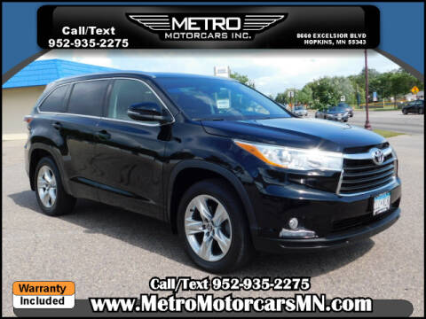 2016 Toyota Highlander for sale in Hopkins, MN