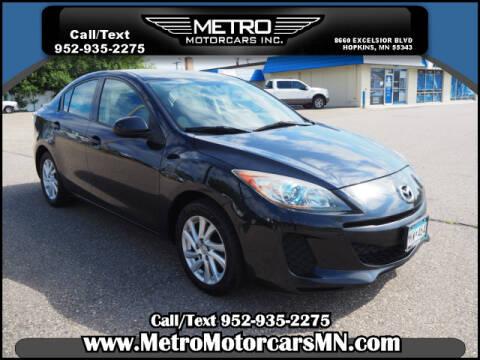 2012 Mazda MAZDA3 for sale at Metro Motorcars Inc in Hopkins MN