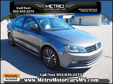 2016 Volkswagen Jetta for sale at Metro Motorcars Inc in Hopkins MN