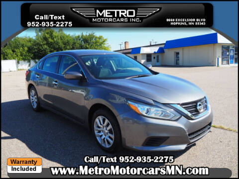 2017 Nissan Altima for sale at Metro Motorcars Inc in Hopkins MN