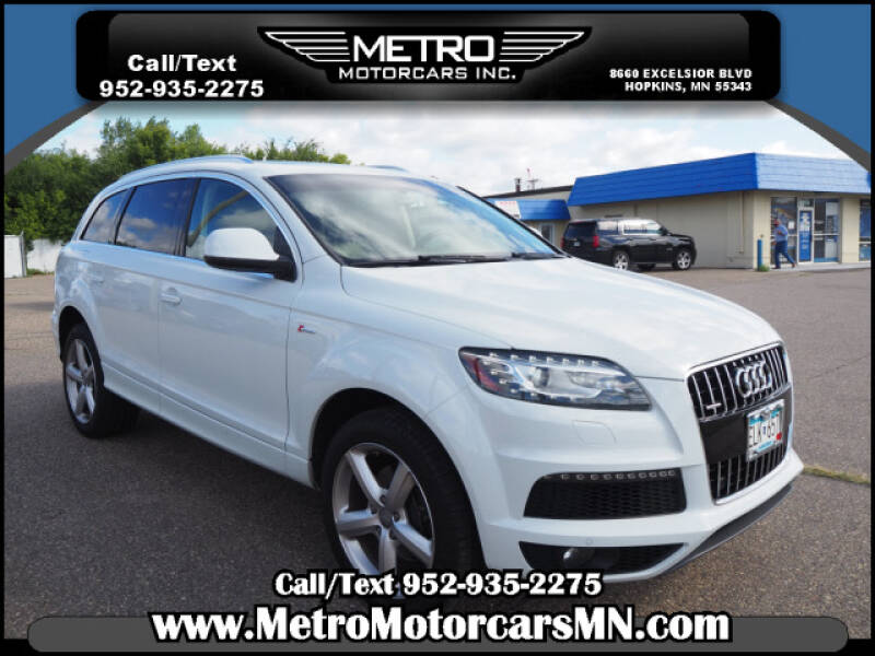 2014 Audi Q7 for sale at Metro Motorcars Inc in Hopkins MN