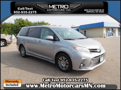 2018 Toyota Sienna for sale at Metro Motorcars Inc in Hopkins MN