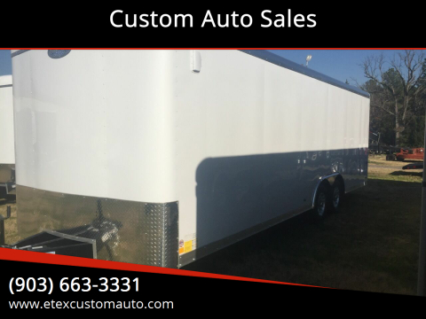 2020 Continental Cargo 8.5 X 24 Tandem Flat Front for sale at Custom Auto Sales - TRAILERS in Longview TX