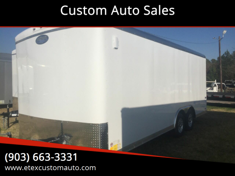 2020 Continental Cargo 8.5 x 20 Tandem Flat Front for sale at Custom Auto Sales - TRAILERS in Longview TX
