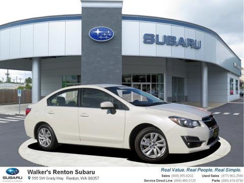 2016 Subaru Impreza for sale in Renton WA
