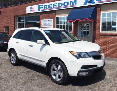 2012 Acura MDX for sale at FREEDOM AUTO LLC in Wilkesboro NC