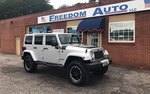 2012 Jeep Wrangler Unlimited for sale at FREEDOM AUTO LLC in Wilkesboro NC