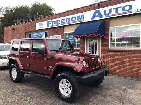 2007 Jeep Wrangler Unlimited for sale at FREEDOM AUTO LLC in Wilkesboro NC