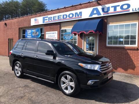 2013 Toyota Highlander for sale at FREEDOM AUTO LLC in Wilkesboro NC