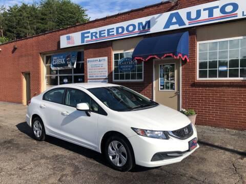 2013 Honda Civic for sale at FREEDOM AUTO LLC in Wilkesboro NC