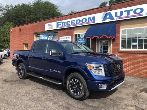 2019 Nissan Titan for sale at FREEDOM AUTO LLC in Wilkesboro NC