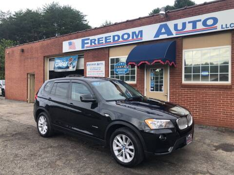2013 BMW X3 for sale at FREEDOM AUTO LLC in Wilkesboro NC