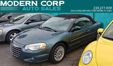 2005 Chrysler Sebring for sale at Modern Auto Sales in Fort Myers FL