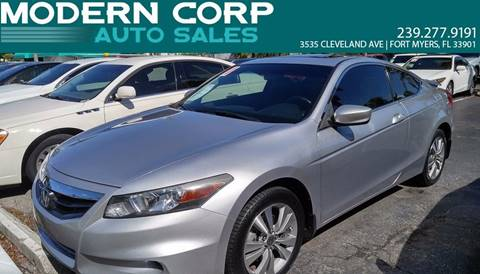 2011 Honda Accord for sale at Modern Auto Sales in Fort Myers FL