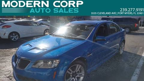 2009 Pontiac G8 for sale at Modern Auto Sales in Fort Myers FL
